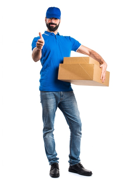 Fragile uniform courier express expression Free Photo