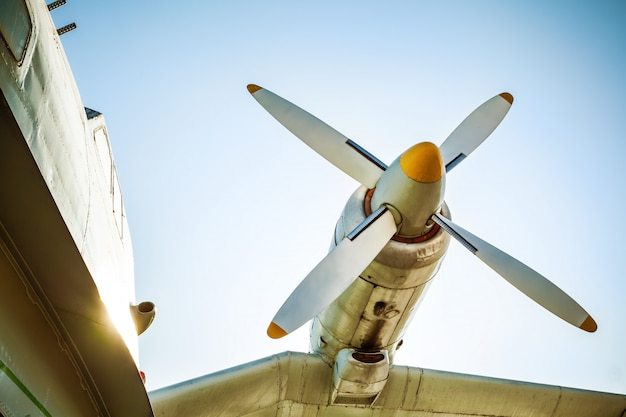 Fragment of old airplane Premium Photo