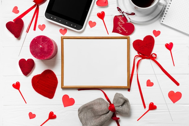 Frame and Valentine\'s Day stuff Photo | Free Download