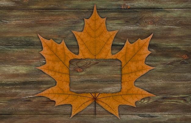 Frame of dry autumn leaf. Premium Photo