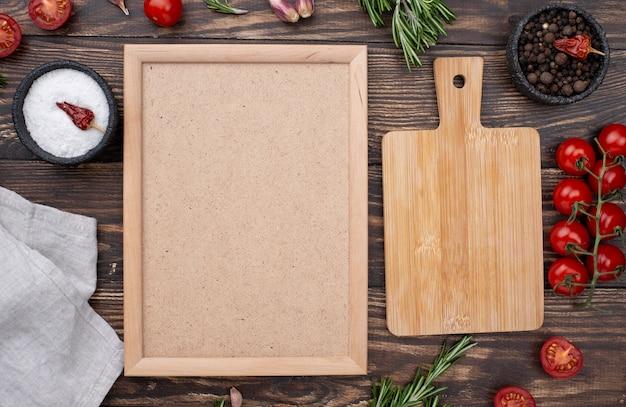 Frame of healthy ingredients Premium Photo