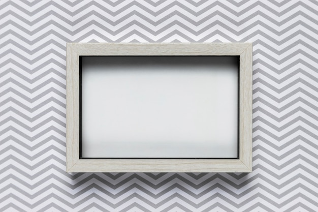 Frame mock-up with patterned background Free Photo