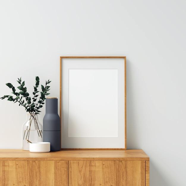 Frame mockup with beautiful decorations Premium Photo