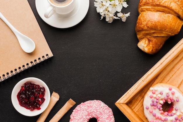 朝食用食品のフレーム 無料写真