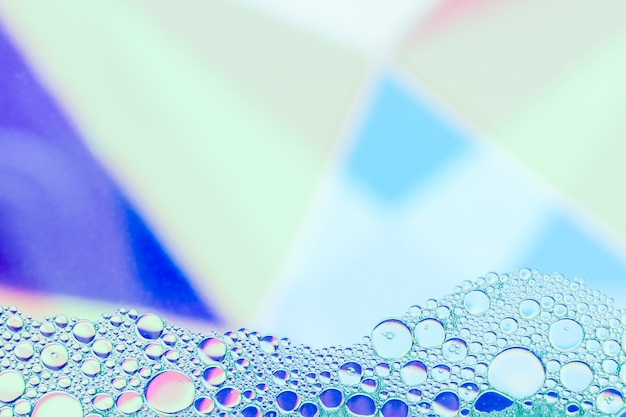 Frame with abstract blue shades bubbles Free Photo