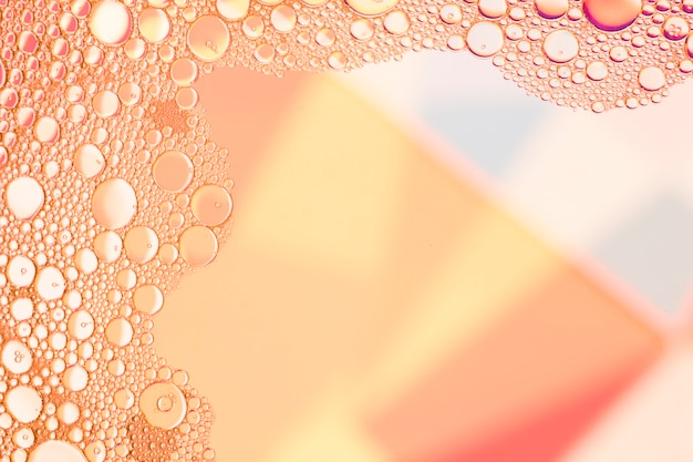 抽象的なサーモンの泡を持つフレーム 無料写真