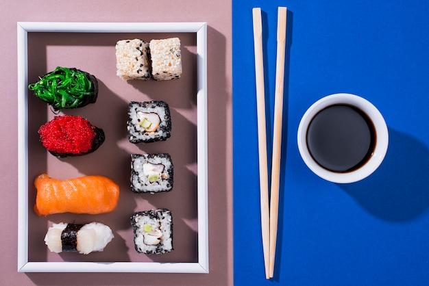 ロール寿司のフレーム 無料写真