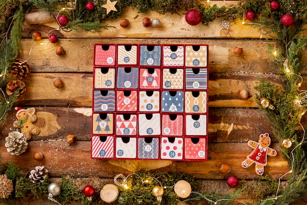 Frame with thematic view for christmas Free Photo