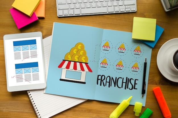 Franchise маркетинг брендинг розничная торговля и бизнес-миссия Premium Фотографии