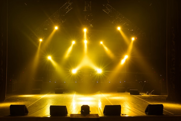 Free stage with lights Premium Photo