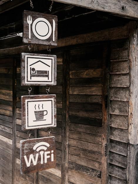 無料のwi-fiサイン Premium写真