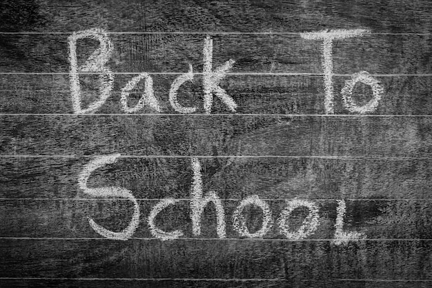 Freehand drawing back to school on chalkboard ,filtered image pr Free Photo