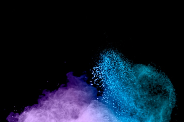 Freeze motion of color powder Free Photo