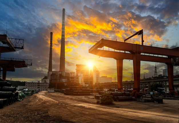 Freight terminals and power plants in china Photo | Premium