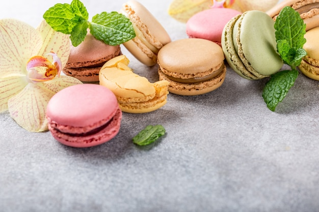 French assorted macarons Premium Photo