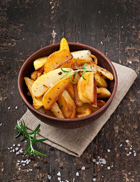French fries potato wedges Free Photo