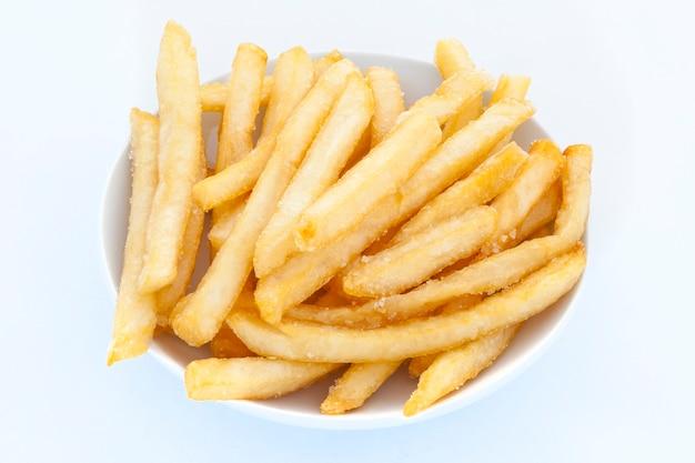 French fries on white Premium Photo