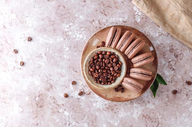 Amaretti francesi con chicchi di caffè. Foto Gratuite