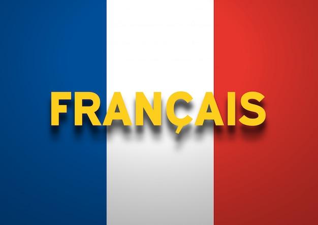 French speaking background Premium Photo