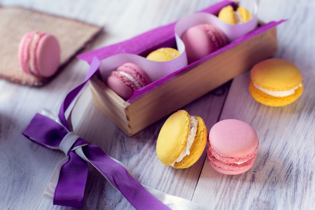 The french tradition - colorful macaroons Premium Photo