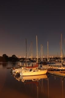 Frenchmans bay at night Free Photo