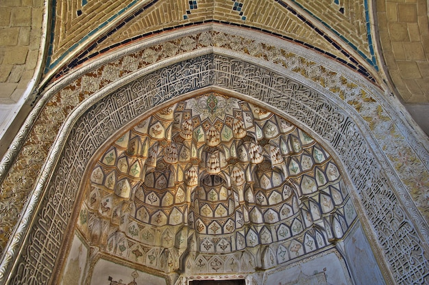 Frescos in the mosque of kashan city iran Premium Photo