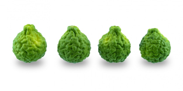 Fresh bergamot fruit isolated on white surface Premium Photo