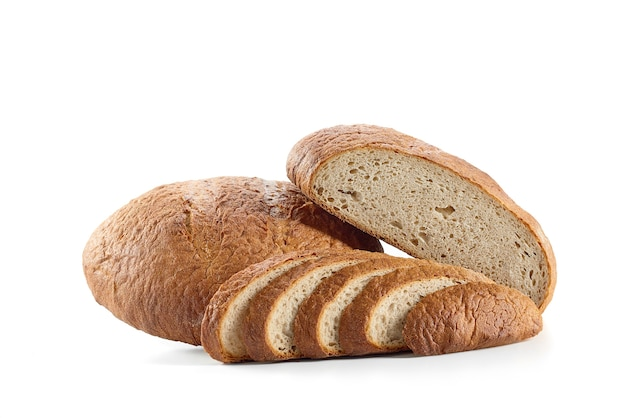 Fresh bread isolated on white Premium Photo
