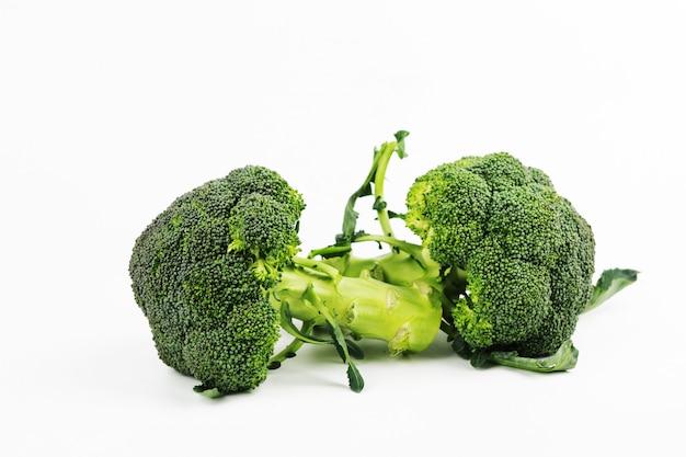 Fresh broccoli isolated on white background Premium Photo