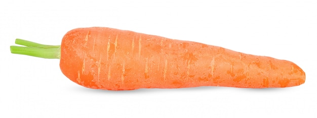 Fresh carrot isolated on white clipping path Premium Photo