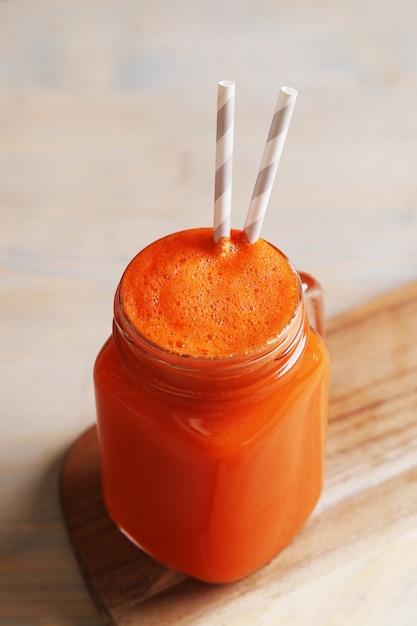 Fresh carrot juice Free Photo