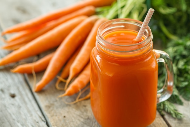 Fresh carrot smoothie Free Photo