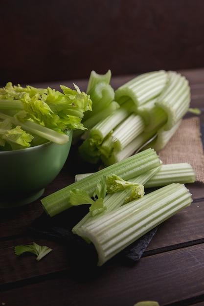 Fresh celery ready to eat Premium Photo