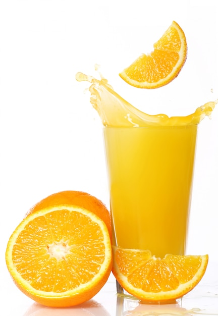 Fresh and cold orange juice Free Photo
