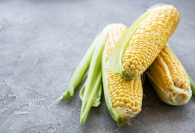 Fresh corn on cobs Premium Photo