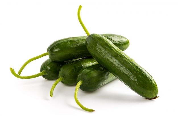Fresh cucumbers on white background Free Photo