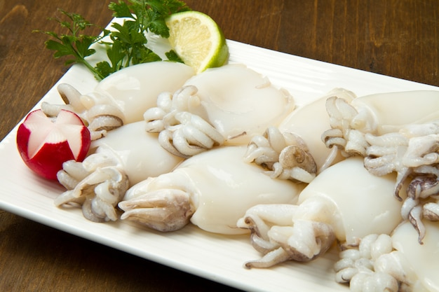 Fresh cuttlefish Premium Photo