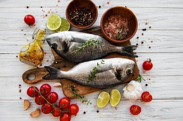 Fresh fish dorado Premium Photo