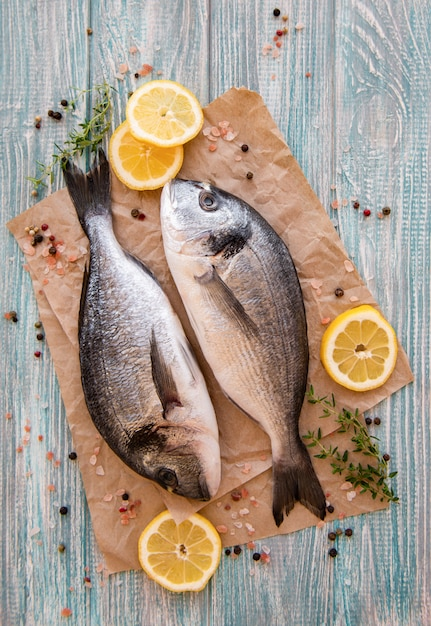Fresh fish dorado Premium Photo