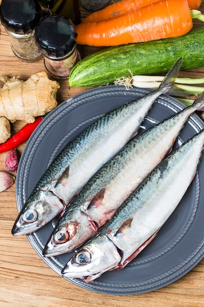 Fresh fish mackerel Free Photo