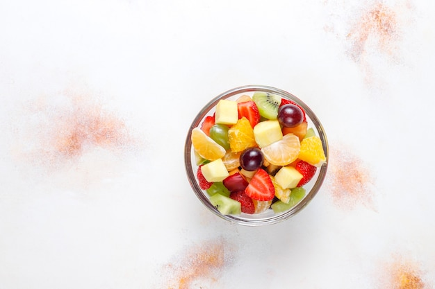Fresh fruit and berry salad,healthy eating. Free Photo