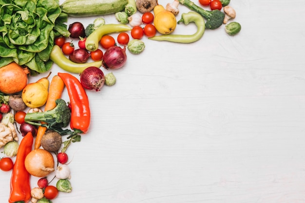 Fresh fruits and vegetables Free Photo