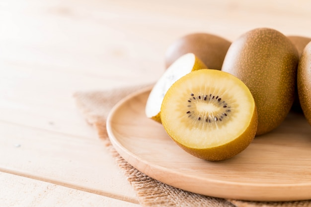 Fresh golden kiwi Free Photo
