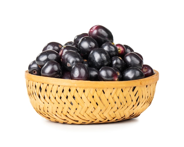 Fresh jamun fruits Premium Photo