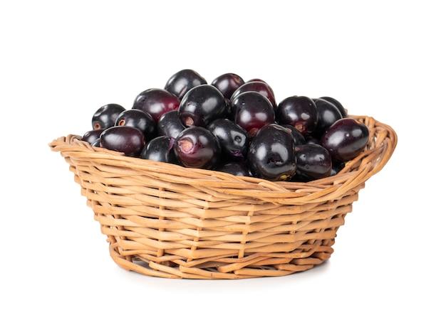 Fresh jamun fruits Premium Photo
