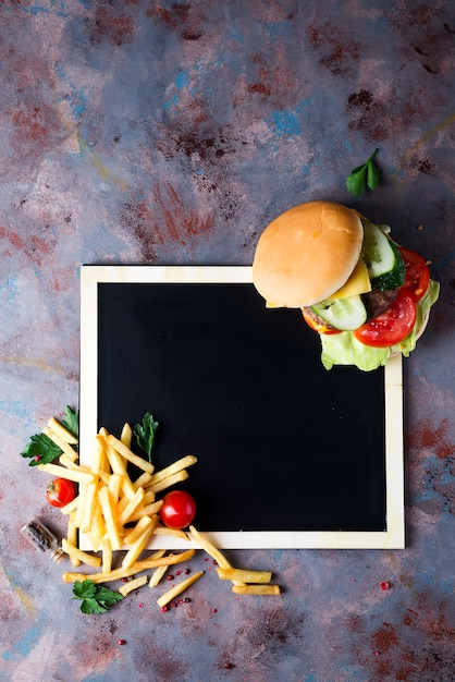 Fresh and juicy hamburger Premium Photo