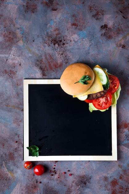Fresh and juicy hamburger Premium Photo