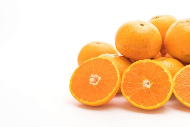 Fresh orange isolated Premium Photo