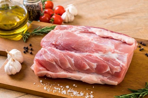 Fresh pork raw fillet Premium Photo