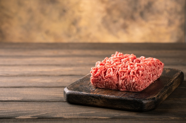 Fresh raw beef minced meat Premium Photo